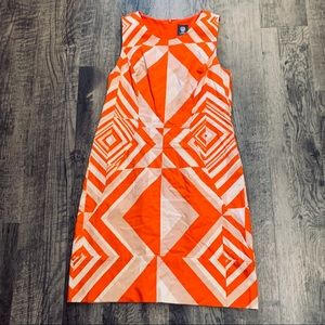 Vince Camuto Textured Print Lined Sheath Dress 12